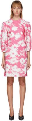 MSGM Pink Flower Print Dress