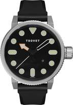 Tsovet NM111010-01 Men's Stainless Steel Rubber Band Dial Watch