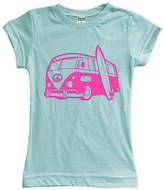 Urban Smalls Aqua Surf Bus Fitted Tee - Toddler & Girls