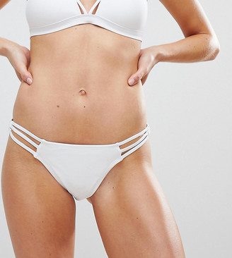 New Look Ring Hipster Bikini Bottoms-White