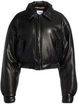 Nanushka Bomi Vegan Leather Oversized Bomber Jacket