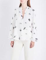 A.L.C. Ty floral silk-crepe shirt