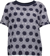 Mother of Pearl Nell printed silk and cotton top