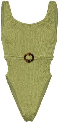 Hunza G Solitaire crinkle-effect swimsuit