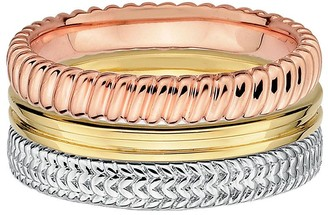 Simply Stacks Sterling Tri-color Ring Set