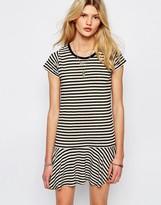 Sessun Drop Waist Mini Dress in Stripe