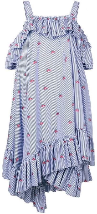 Alexander McQueen floral striped dress