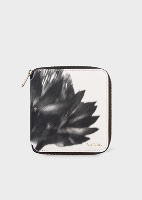 Paul Smith Women's 'Screen Floral' Square Leather Zip-Around Wallet