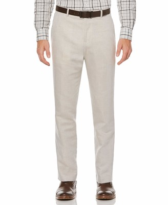 Perry Ellis Men's Standard Linen Suit Pant