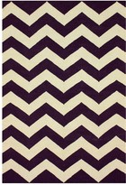 nuLoom Wylin Wool Rug - Purple - 5ft. x 8ft.