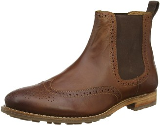 Chatham Dudley II Dark Tan Brogue Chelsea Boots-8