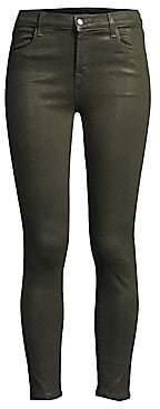 J Brand Women's Alana Coated High-Rise Cropped Skinny Jeans