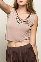 SV Sleeveless Crop Top