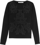 Diane von Furstenberg Shana embroidered merino wool-blend sweater