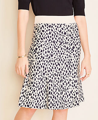 Ann Taylor Petite Cheetah Print Sweater Skirt