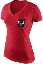 Nike Women's Georgia Bulldogs Tri Mid-V Pocket T-Shirt