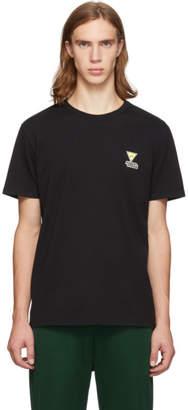 MAISON KITSUNÉ Black Smiley Fox T-Shirt
