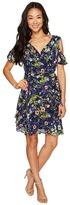 Tahari by Arthur S. Levine Petite Cold Shoulder Faux-Wrap Dress