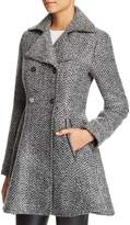 Laundry by Shelli Segal Fit-and-Flare Double-Breasted Coat