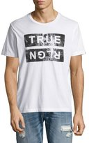 True Religion Distressed Logo T-Shirt, White