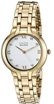 "Citizen Women's EM0132-59A ""Bella"" Stainless Steel Eco-Drive Watch with Diamonds"
