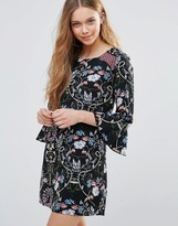 Yumi Printed Shift Dress