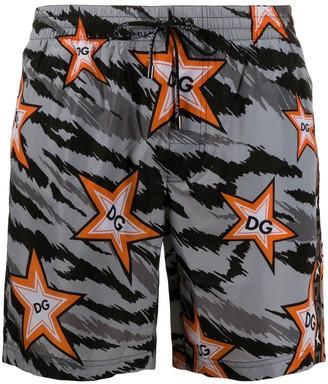 Dolce & Gabbana Star Camouflage Beach Shorts