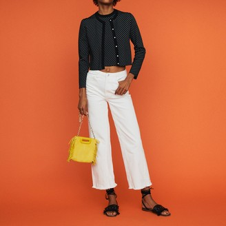 Maje Cropped stripe cardigan