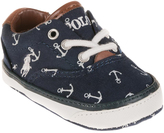 Polo Ralph Lauren Navy Anchor Vaughn Booties - Infant