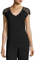 Cosabella Ritz Cap-Sleeve Top, Black