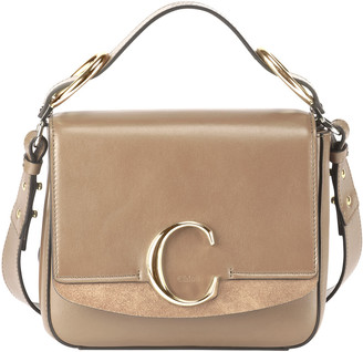 Chloé C Medium Shiny Box Shoulder Bag