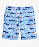 Brooks Brothers Shark Print Swim Trunks