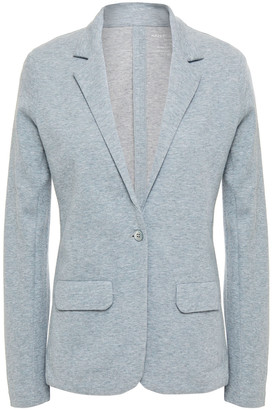 Majestic Filatures Brushed Melange Cotton And Cashmere-blend Jersey Blazer
