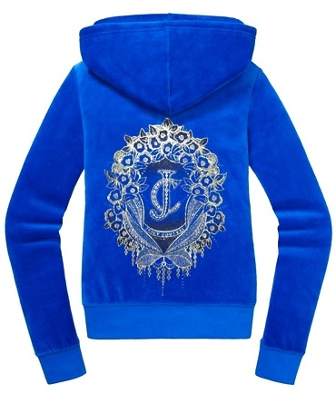Juicy Couture Relaxed Jacket in Boho Crest Velour