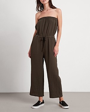Velvet by Graham & Spencer Cotton Georgie Strapless Jumpsuit