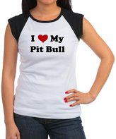 CafePress - I Love My Pit Bull T-Shirt - Women's Cap Sleeve T-Shirt
