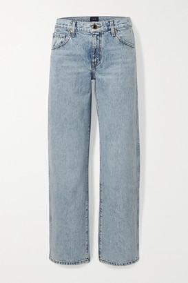 KHAITE Kerrie Mid-rise Straight-leg Jeans - Light denim
