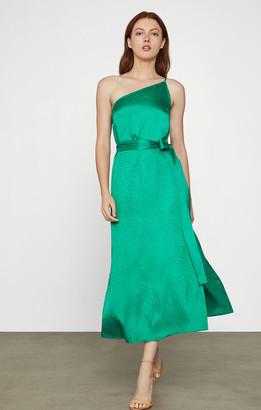 BCBGMAXAZRIA Dotted Satin Cocktail Dress