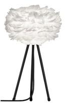EOS Umage UMAGE - Mini White Feather Black Tripod Table Lamp - White/Black