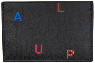 Paul Smith Navy and Black Letters Card Holder