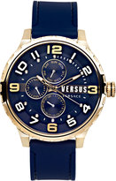 Versus By Versace 50mm Globe Oversized Chronograph Watch, Golden/Blue