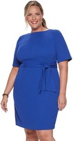 Plus Size Suite 7 Side Tie Sheath Dress