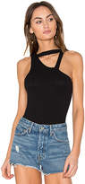 LnA Angle Strap Bodysuit in Black