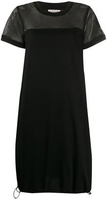 Moncler mesh panel T-shirt dress