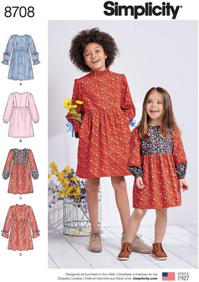 Simplicity Dress Sleeve Sewing Pattern, 8708