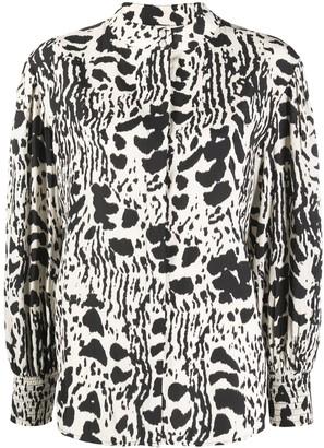 BA&SH Opus animal-print blouse