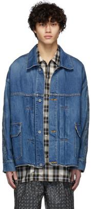 Doublet Indigo Denim Chaos Embroidery Jacket