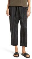 Vince Women's Regiment Stripe Tie Waist Crop Pants