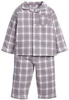 Mamas and Papas Baby-Girls Girls Jersery/Woven Pyjamas Checkered Long Sleeve Pyjama Set