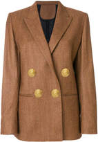 Petar Petrov double breasted blazer with exaggerated buttons
